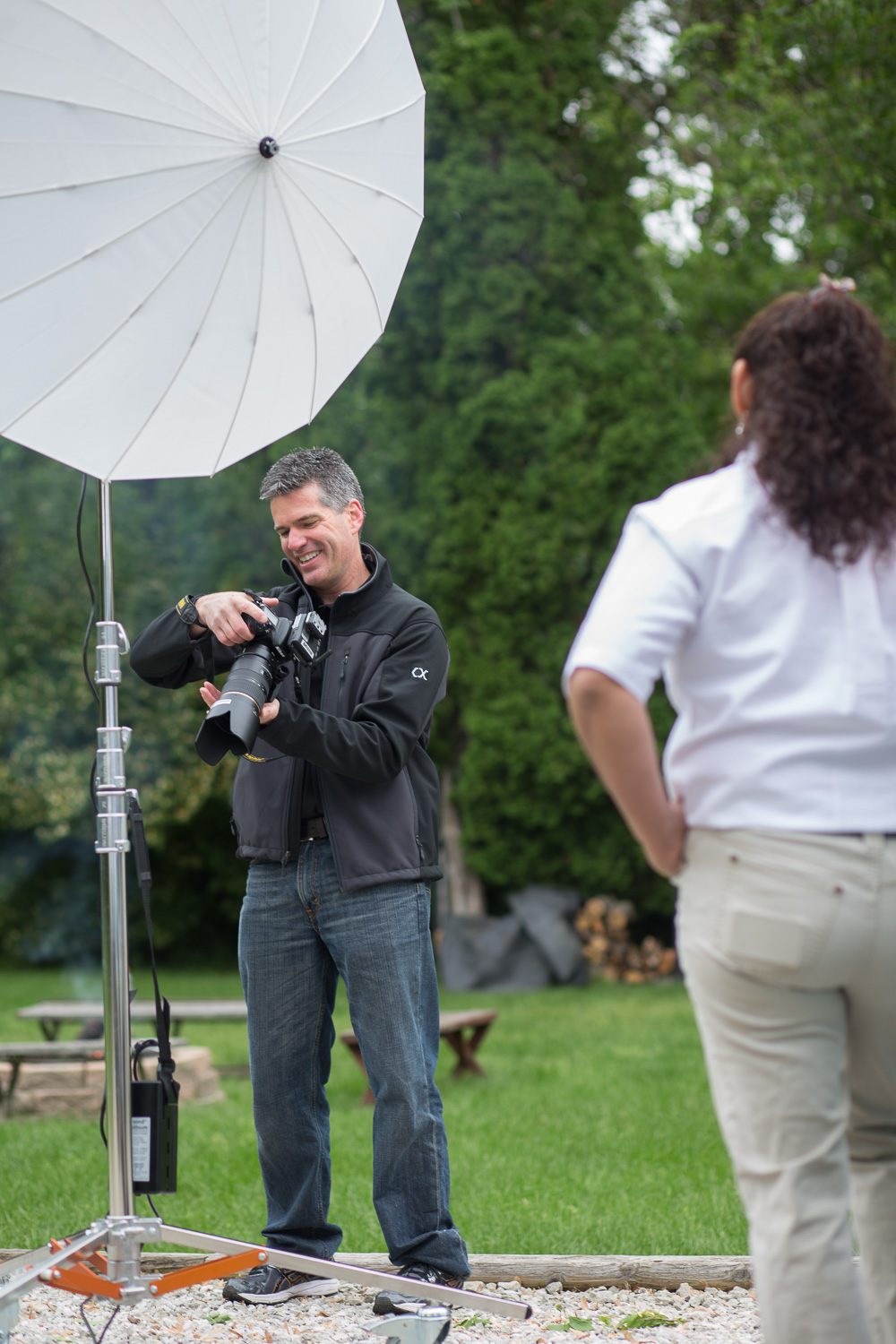 Commercial Photography Behind The Scenes at A&D in Indianapolis - Head Shots