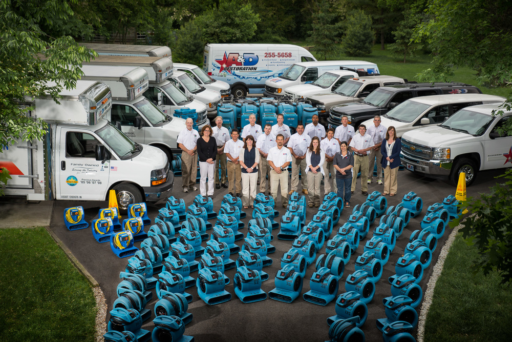 Marquee photo from our commercial photo shoot with A&D Hydra-Clean in Indianapolis, IN.