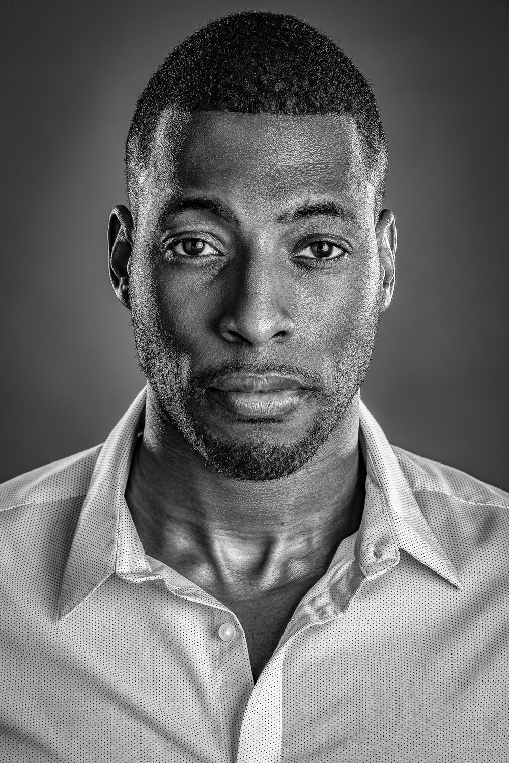 Headshot of Actor Model Black & White