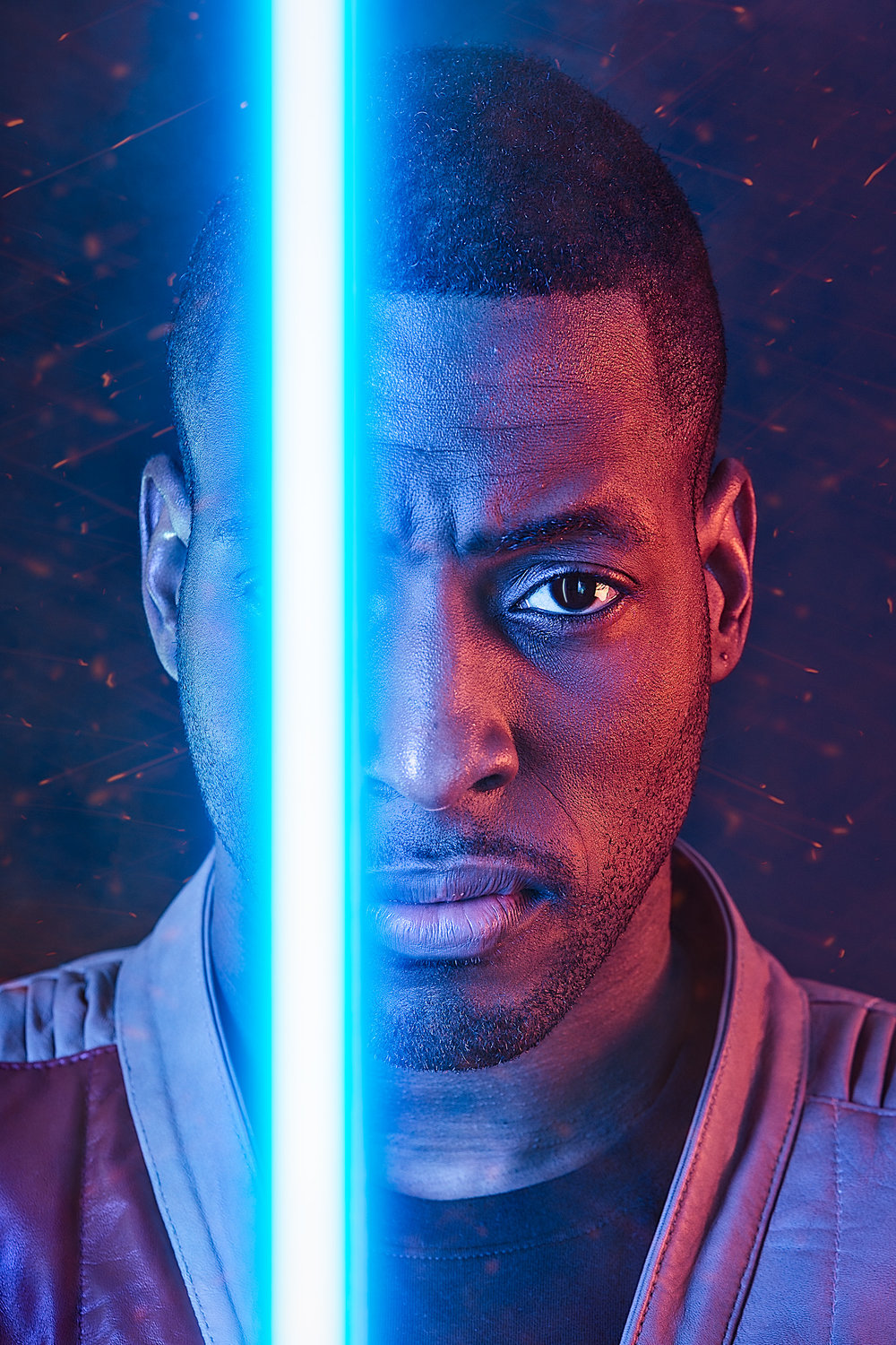 Star Wars - Finn Headshot with LIghtsaber