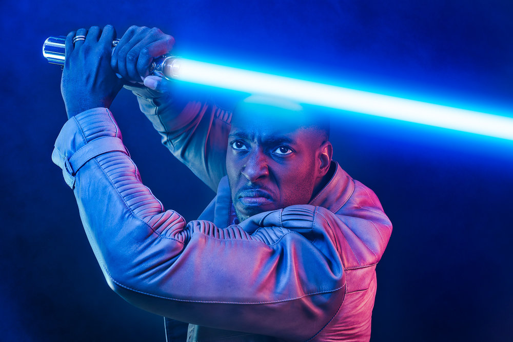 Star Wars - Finn Defends with Lightsaber