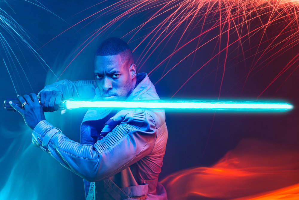 Star Wars - Finn Lightsaber - Sparks & Fire