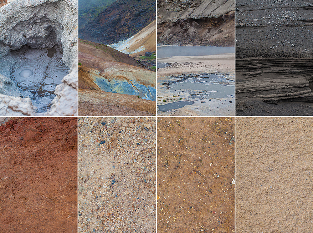 An example of variety of different colours and textures you can often find at the same location. All these photos were made within a 100yard radius.