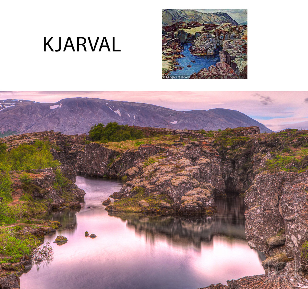 My photograph inspired from Kjarval's painting