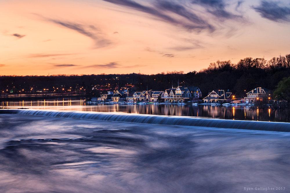 Sunset At Boathouse Row