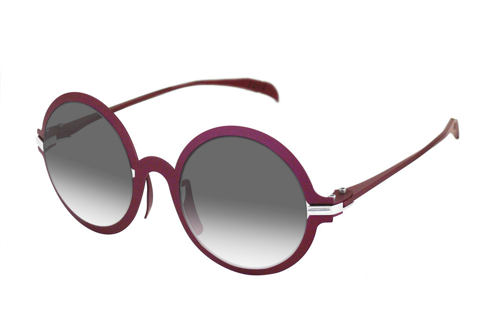 4 O'CLOCK Brandy Sunglasses in Wine