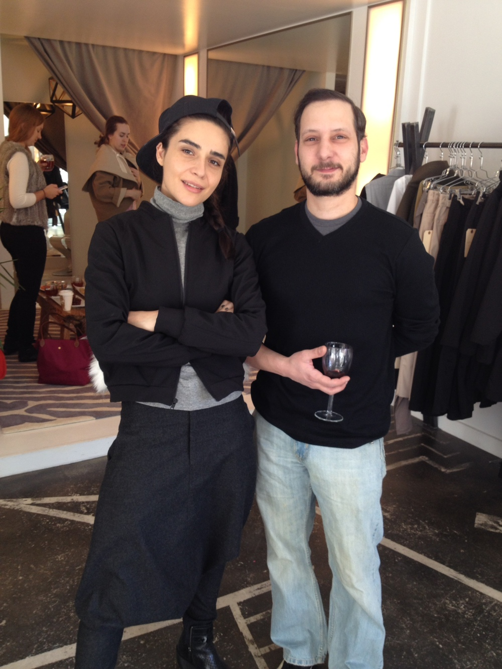 NINObrand designerBela Shehu withJohn (GM Casting)