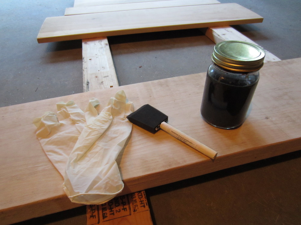 How to make and use DIY Steel Wool and Vinegar Stain