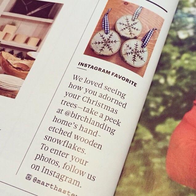Birch Landing Home in the December, 2014 issue of Martha Stewart Living Magazine.
