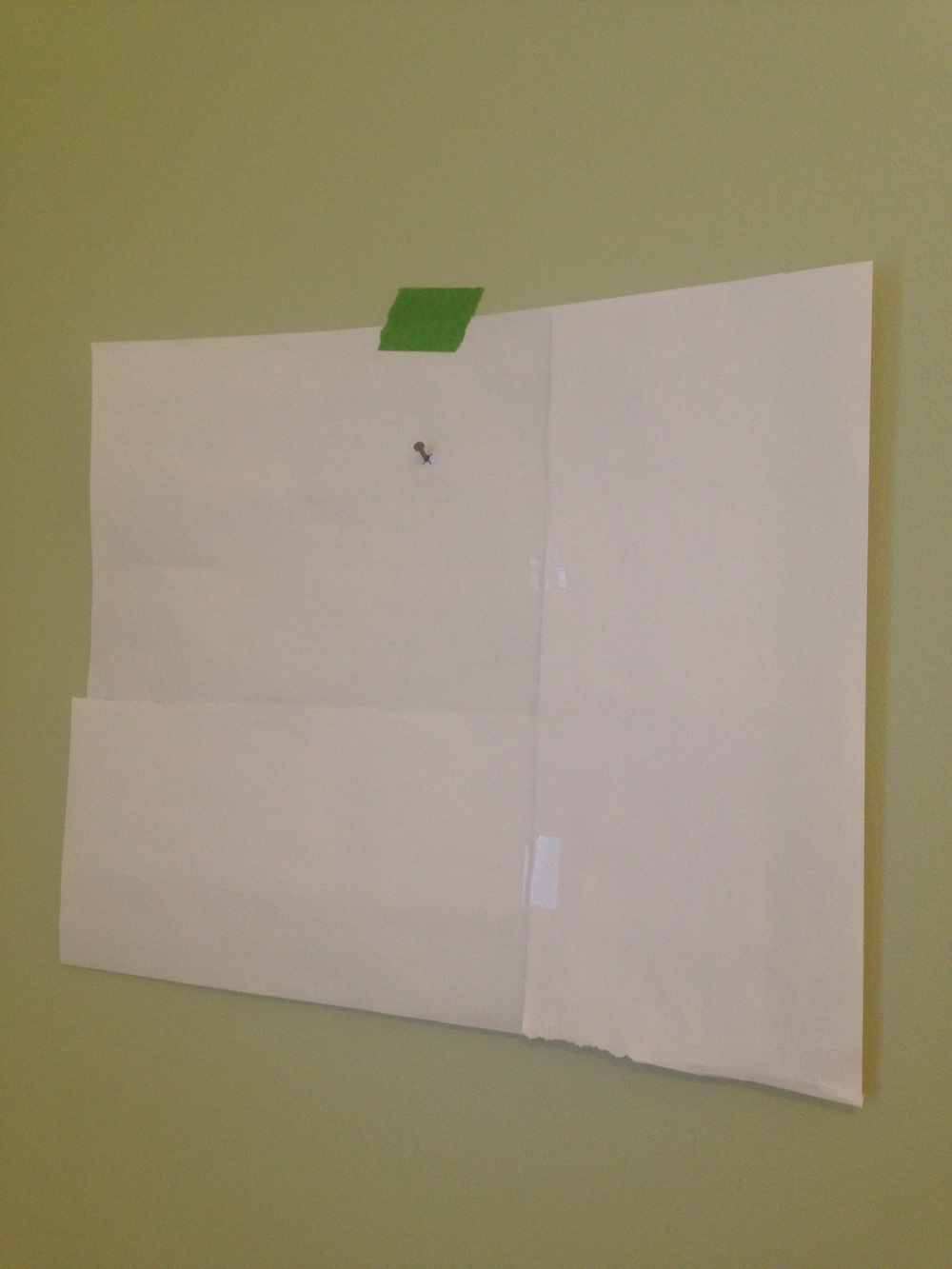 Using paper templates to hang a gallery wall