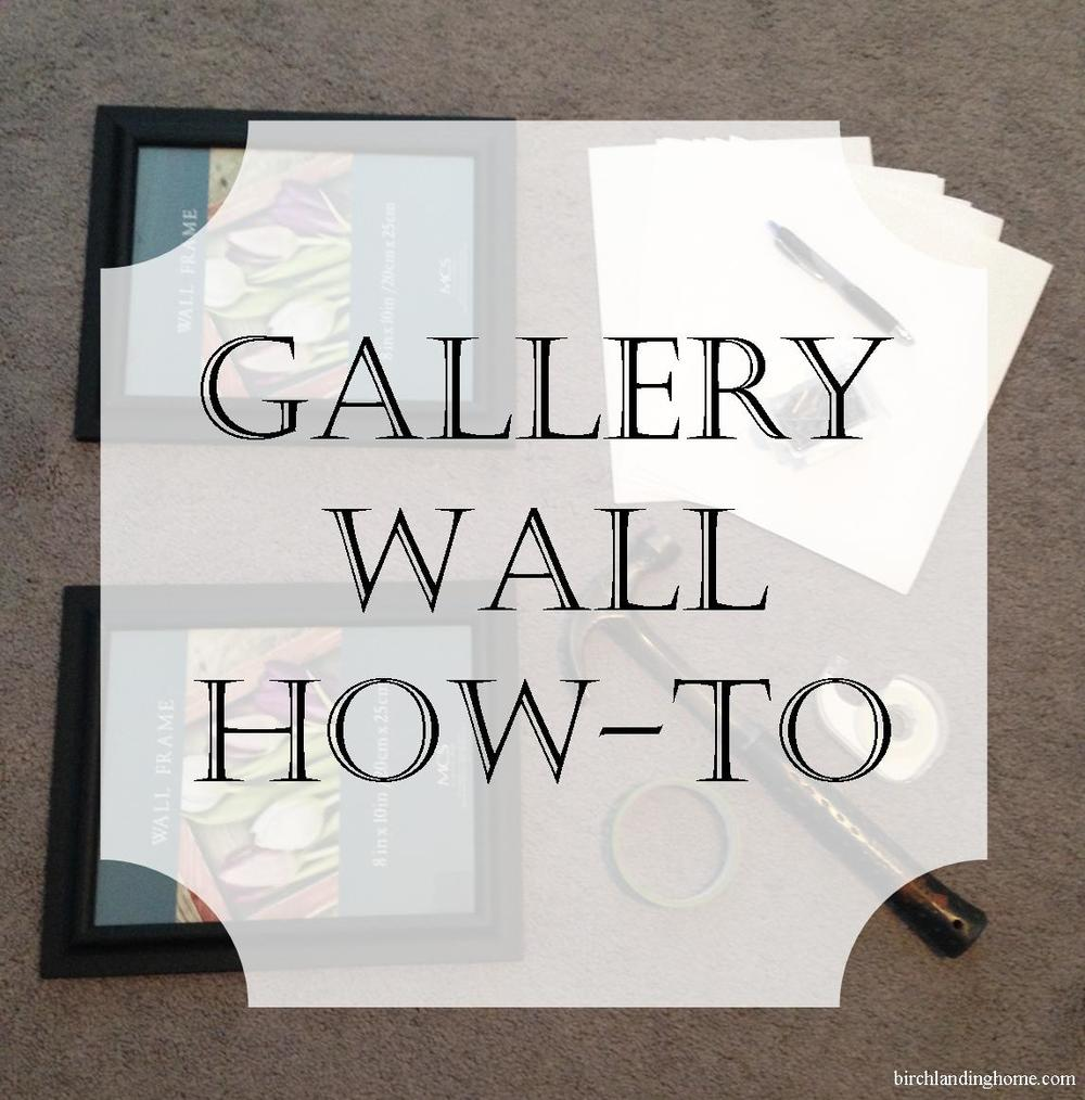 Simple technique to lay out and hang a gallery wall