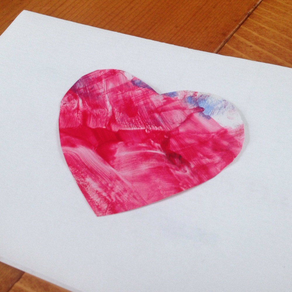 Toddler Art Valentine's Cards; toddler activity / project