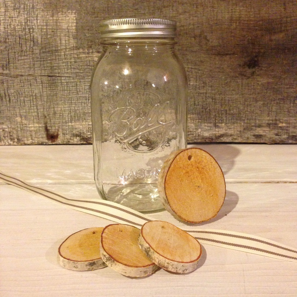 Birch tags and Mason Jars from Birch Landing Home
