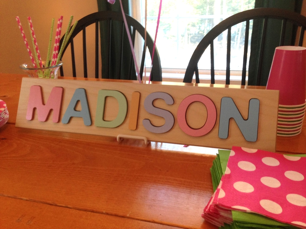 Madison's 1st Birthday Party Centerpiece