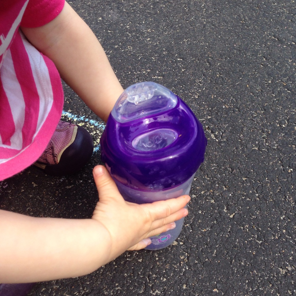 Using Nuby's No-Spill Insulated Cool Sipper - a great transition sippy cup
