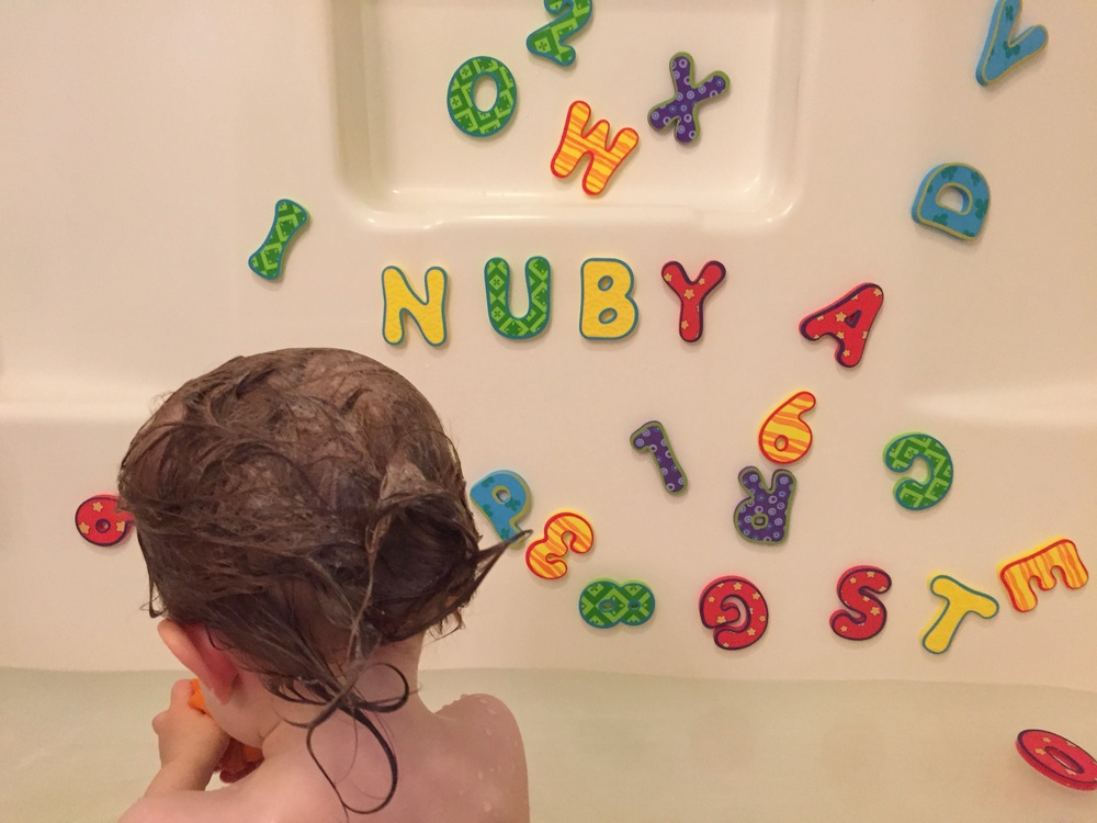 Nuby bath letters and numbers are a fun and educational bath toy