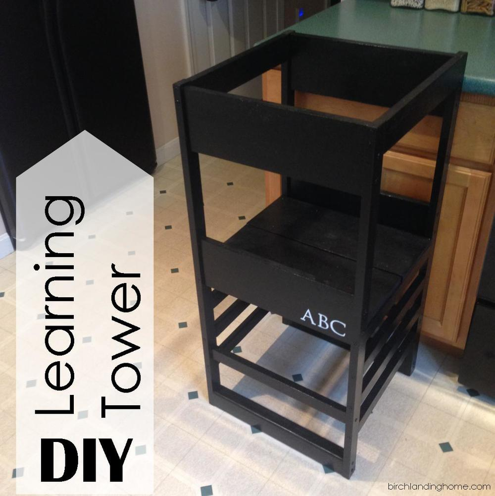 diy learning tower kitchen helper based on plans by ana white blog birch landing home. Black Bedroom Furniture Sets. Home Design Ideas