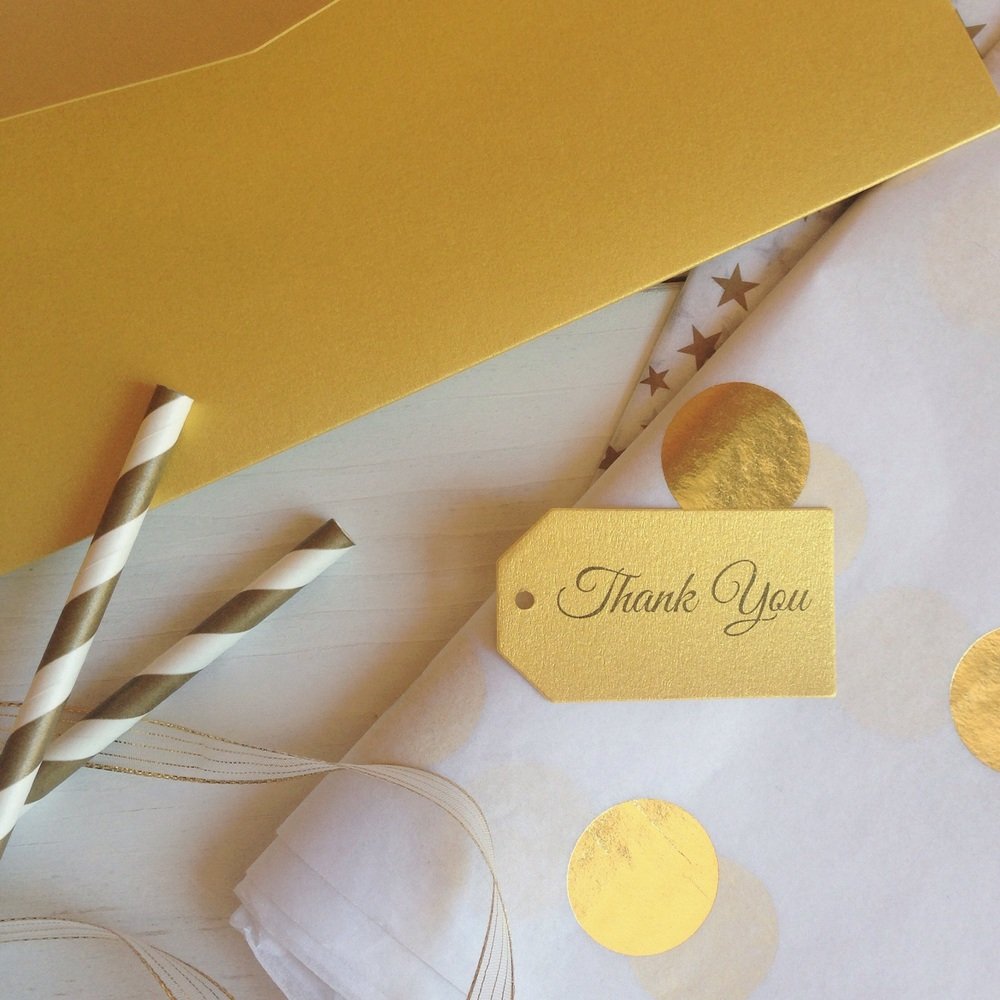 Gold and white luxe party supplies