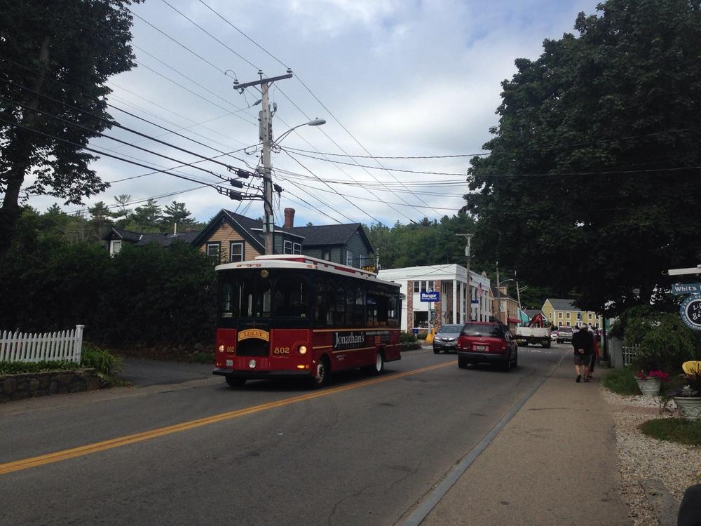 Trolley in Ogunquit, Maine