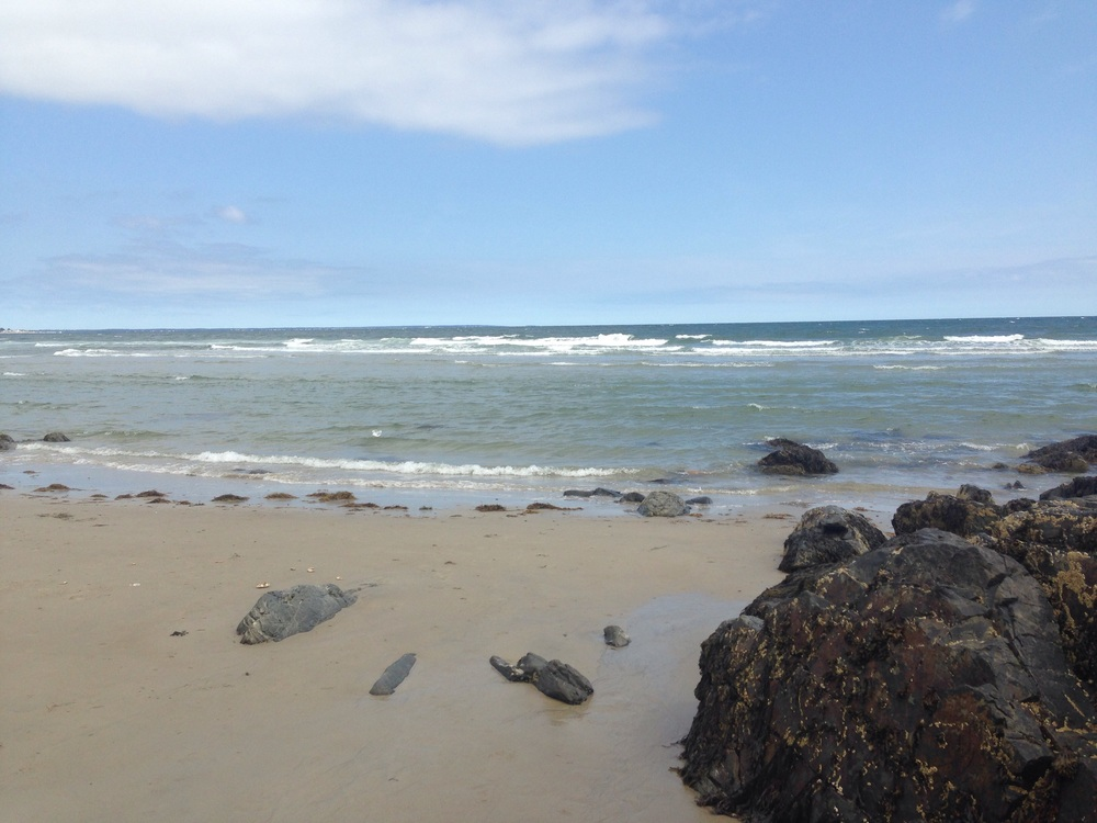Beach along the Marginal Way in Ogunquit, Maine