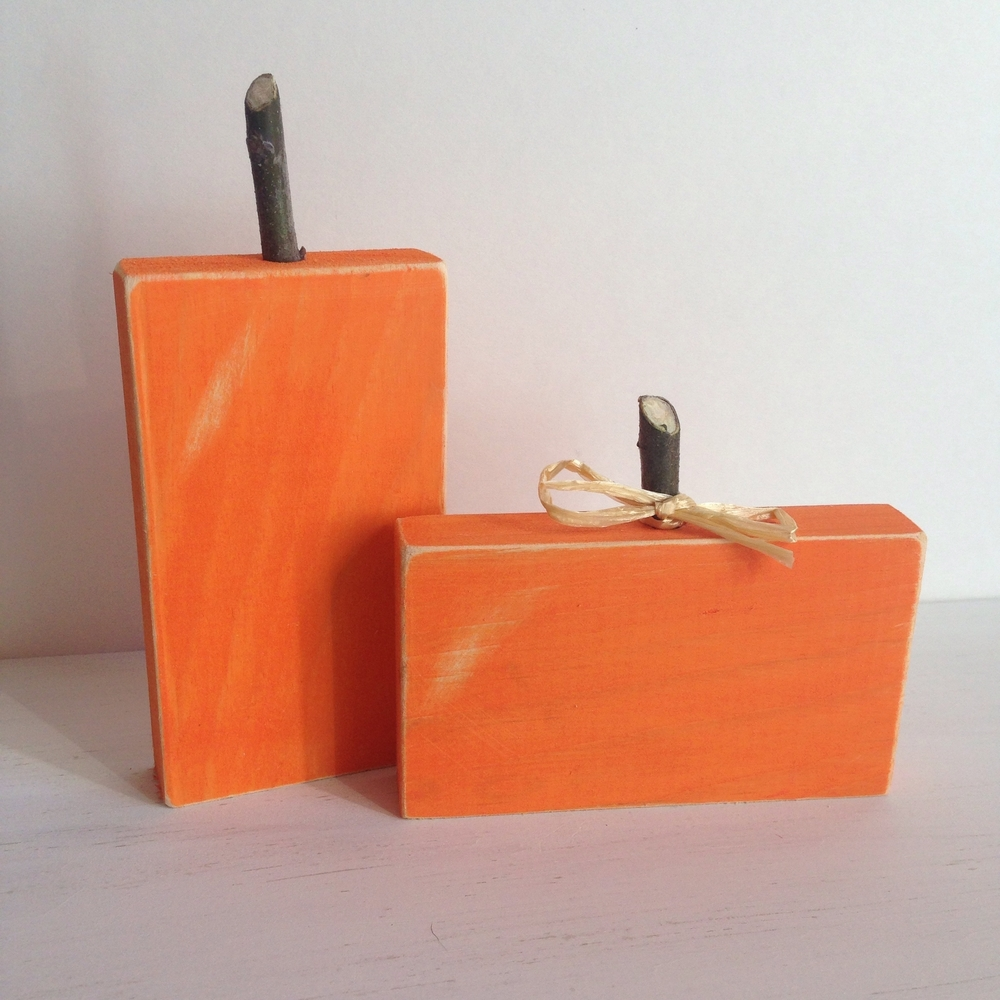 Rustic Square Pumpkins on Etsy by Birch Landing Home