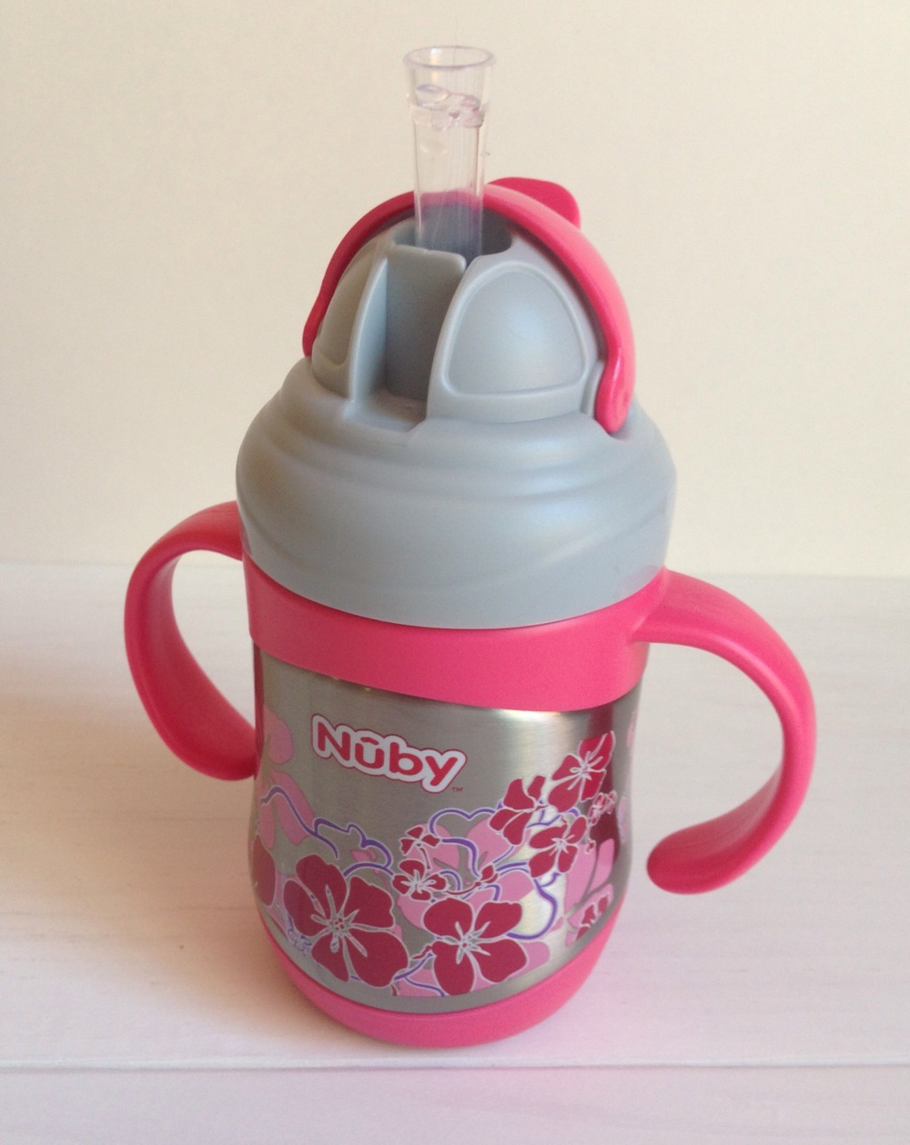Nuby Stainless Steel No-Spill Flip-It Cup with Weighted Straw Product Review