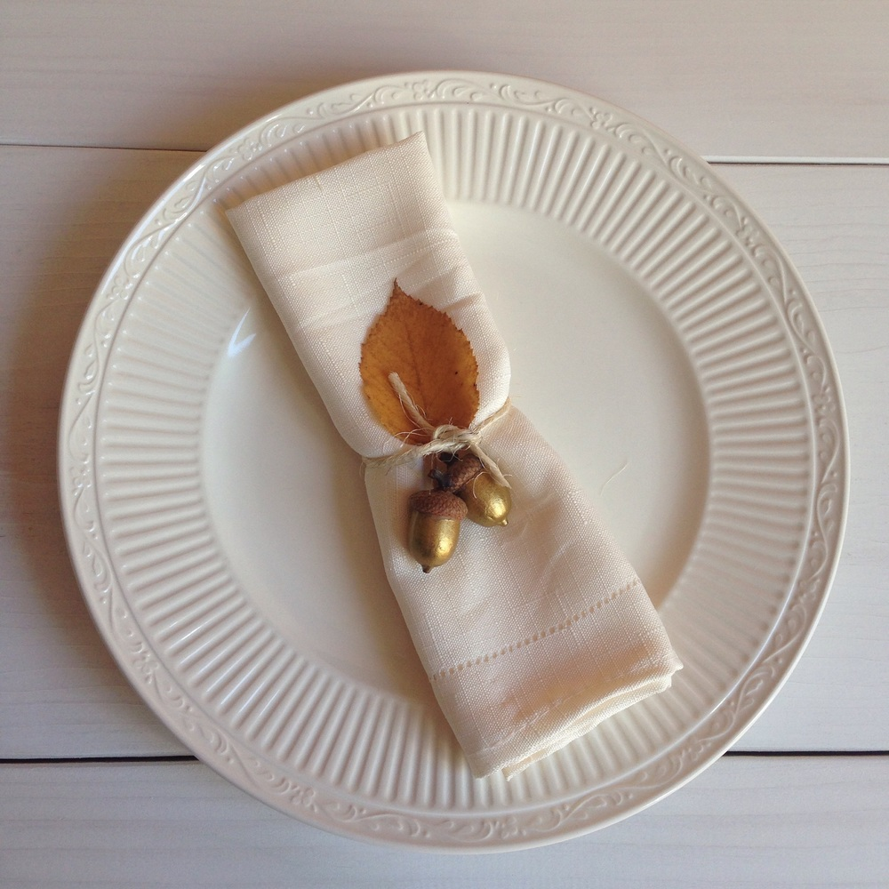 Perfect Fall place setting