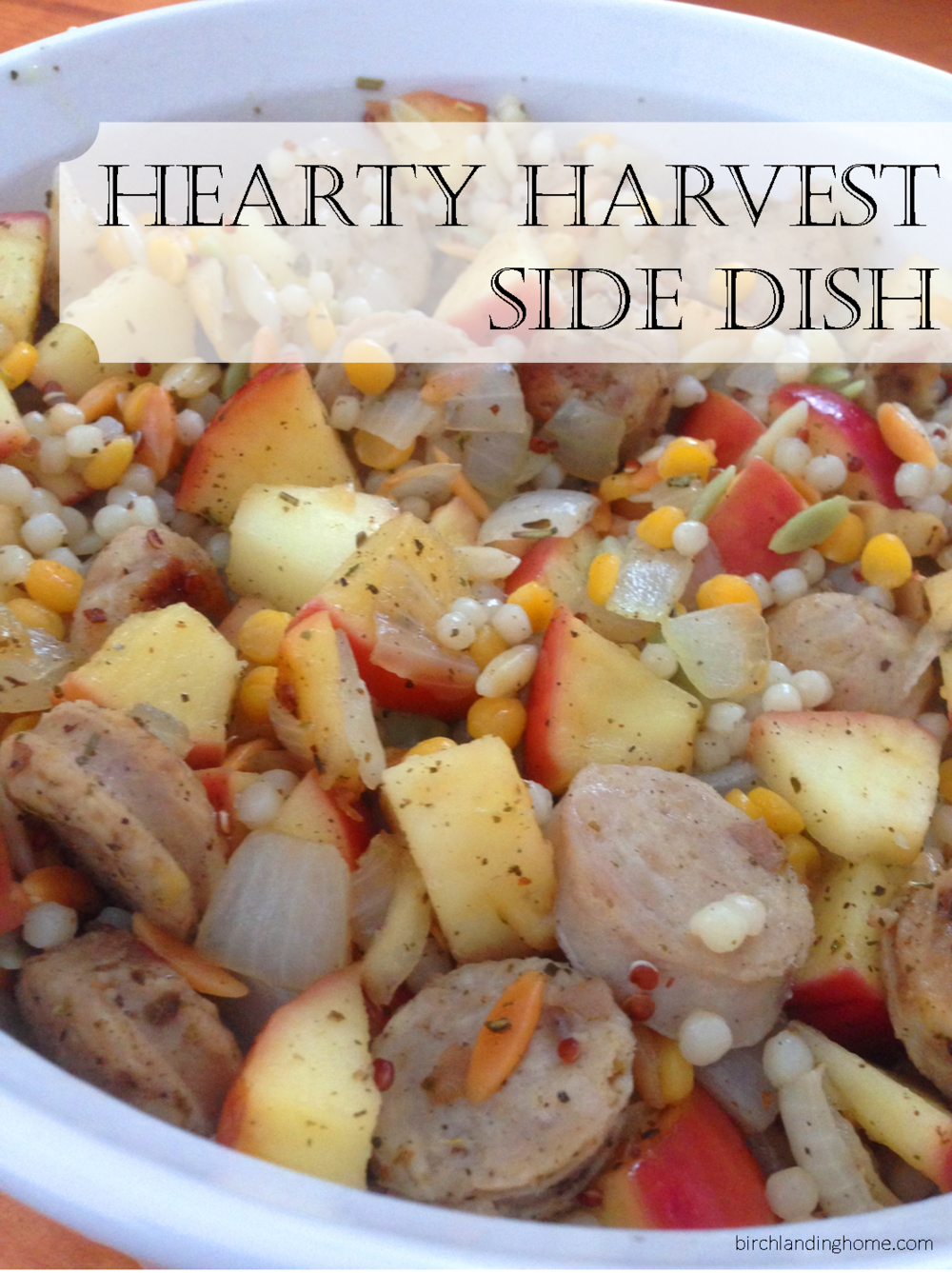 Hearty Harvest Side Dish Recipe - so good!