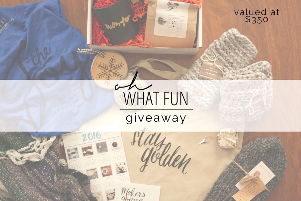 Giveaway ends 12/14/15.