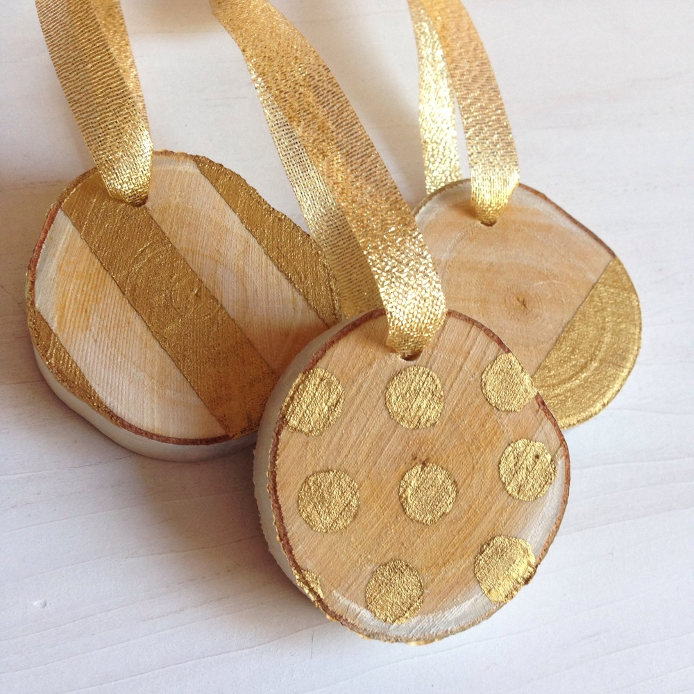 Birch and gold Christmas ornaments by Birch Landing Home