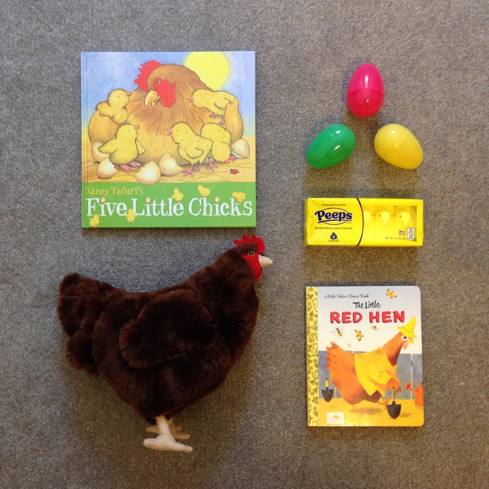 Easter basket items for the young chicken lover!