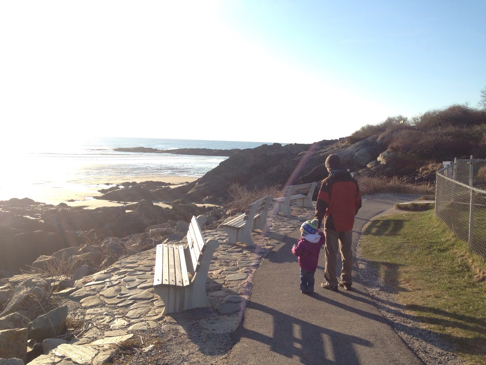 Early morning walk along the Marginal Way.