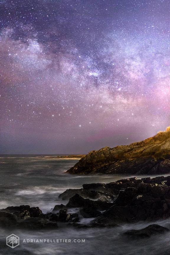Milky Way over Ogunquit Maine by Adrian Pelletier