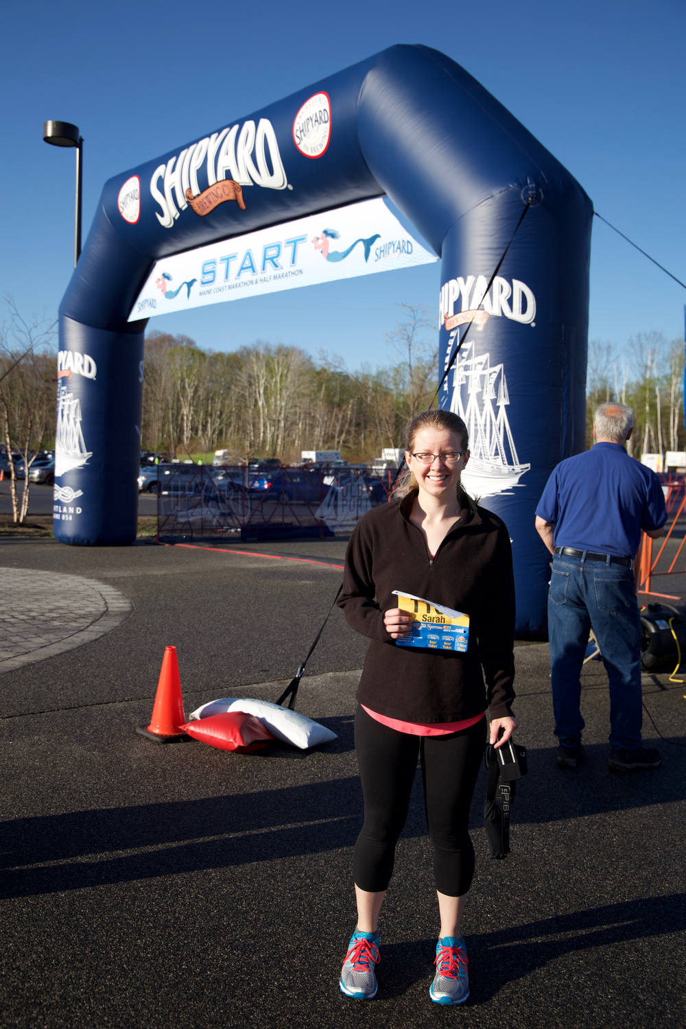 Before the start of the race, so nervous!