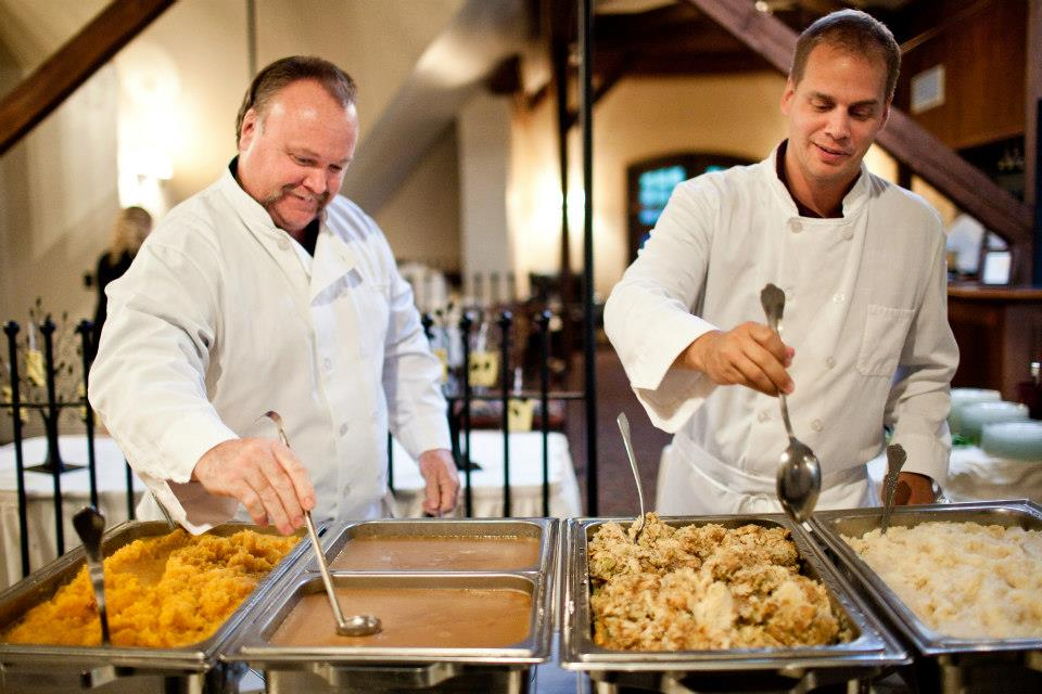 Opt for the buffet rather than a plated meal to save as much as 1/3 on wedding catering costs.
