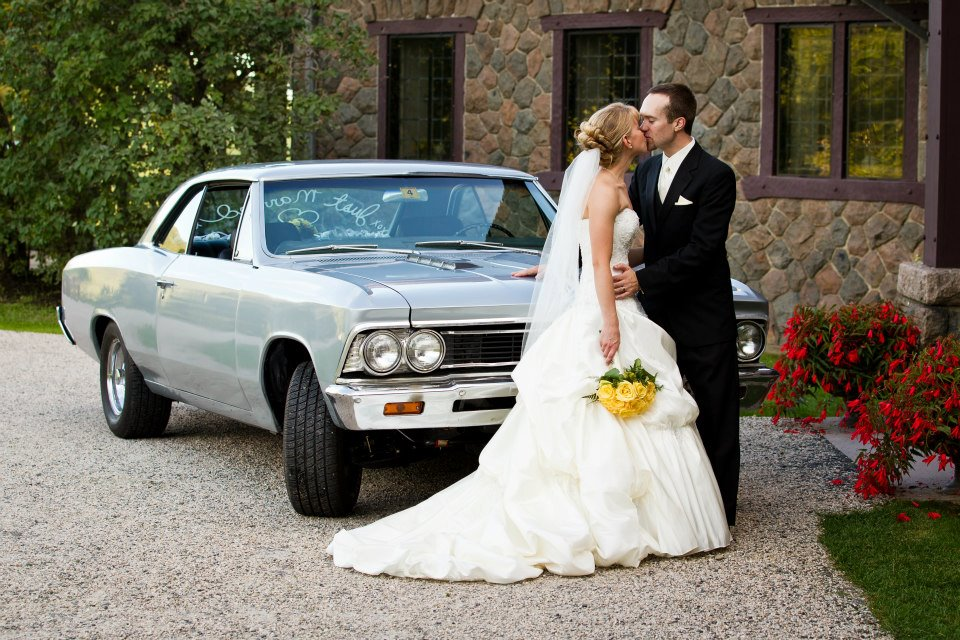 Borrow a fun car rather than renting a limo - save money and have more fun!
