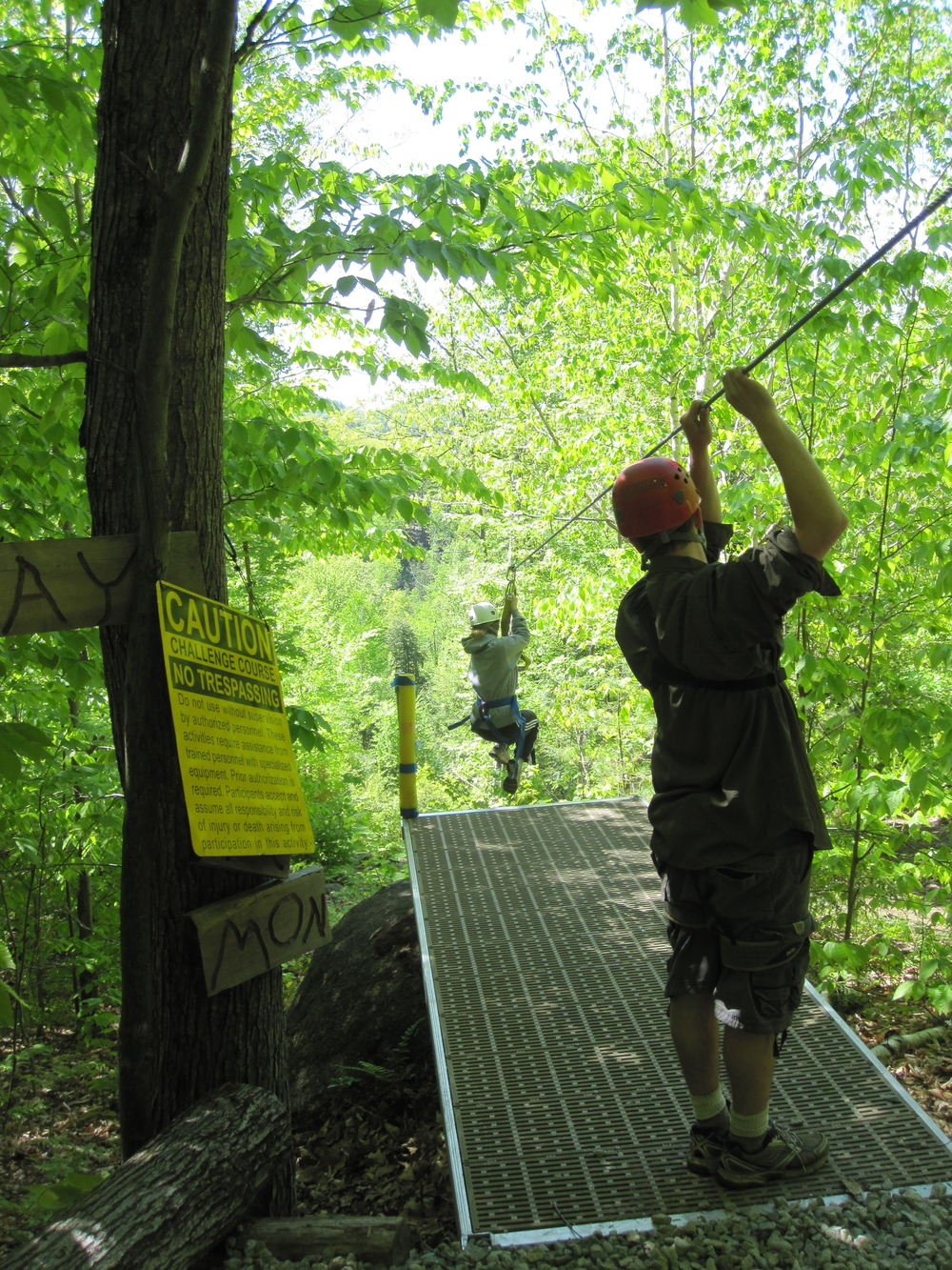 Zip lining with Alpine Adventures in Lincoln, NH.