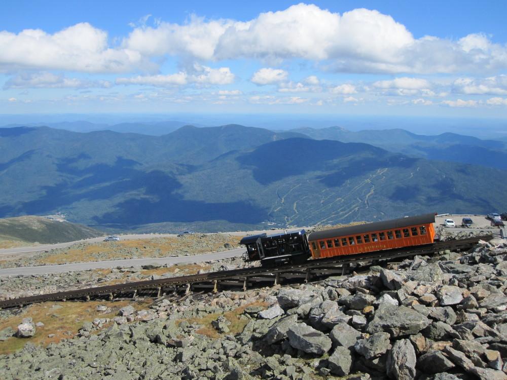 The Famous Cog Railway at Mount Washington