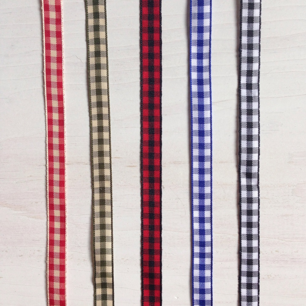 Country ribbon choices from Birch Landing Home - gingham, buffalo plaid