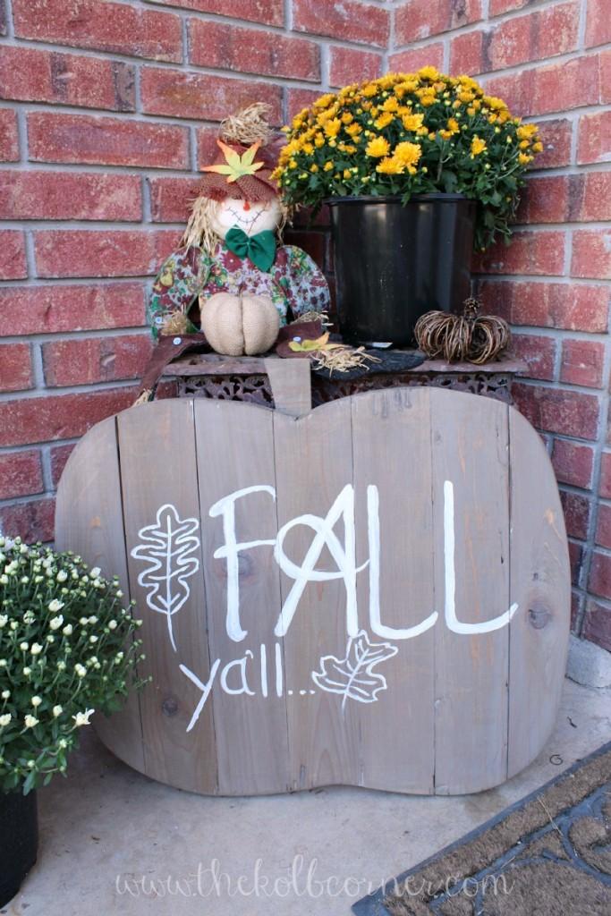 Wooden Pumpkin Fall Sign
