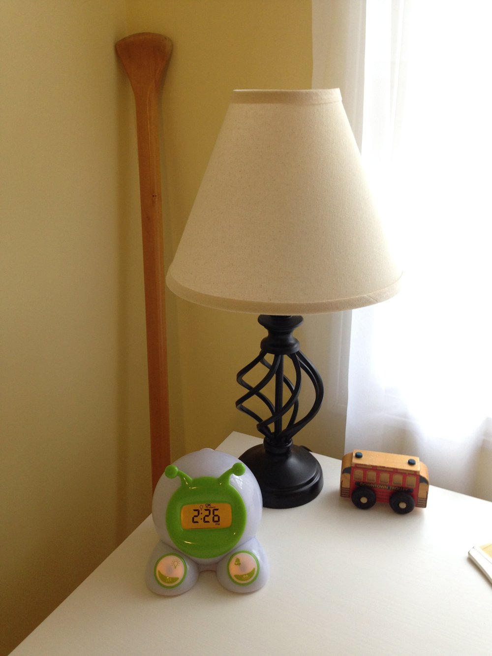 Ready to Wake Clock is an important part of our toddler's room.