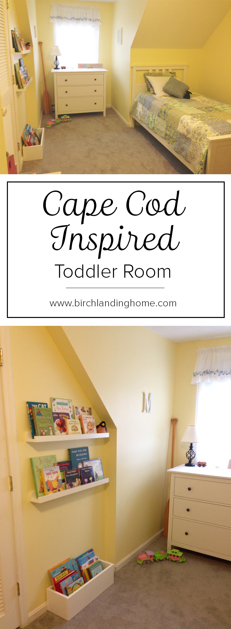 Cape Cod Inspired Toddler Room by Birch Landing Home
