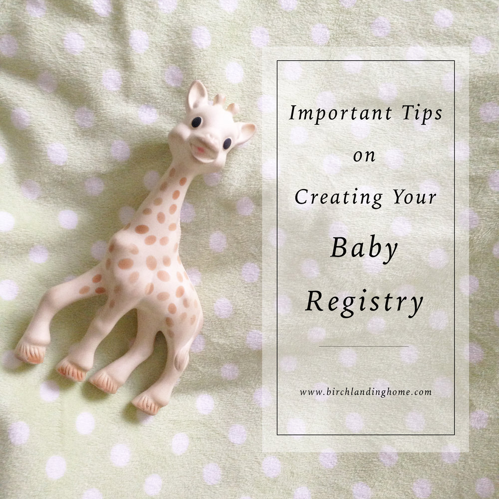 Important Tips on Creating Your Baby Registry