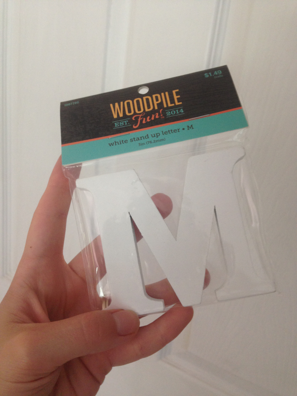 Small (cheap!) wooden monogram from Hobby Lobby