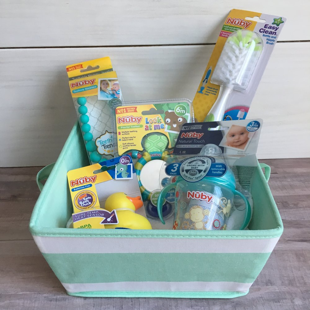 Marvelous Affordable Baby Shower Gift Basket With Nuby