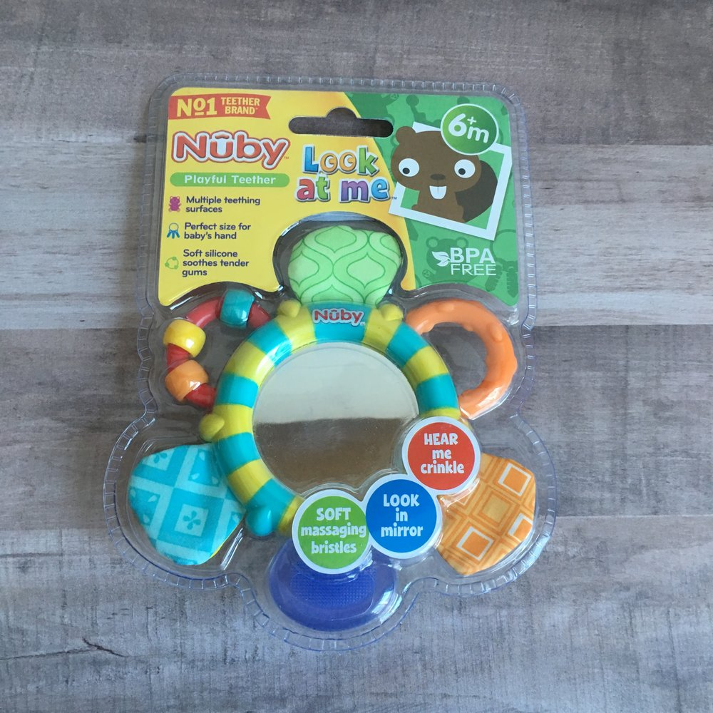 Affordable Baby Shower Gift Basket with Nuby - Mirror Teether