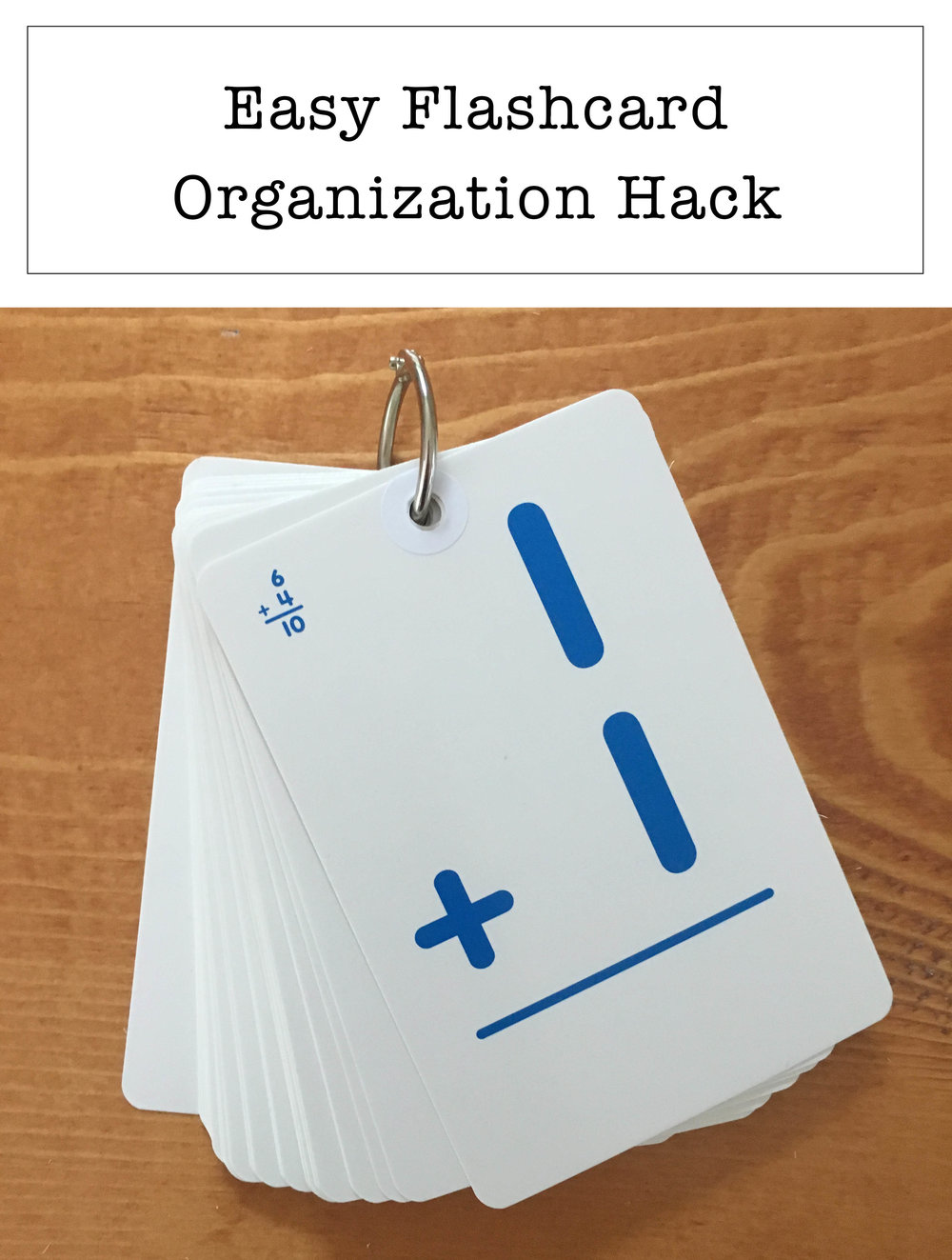 Easy Flashcard Organization Hack!