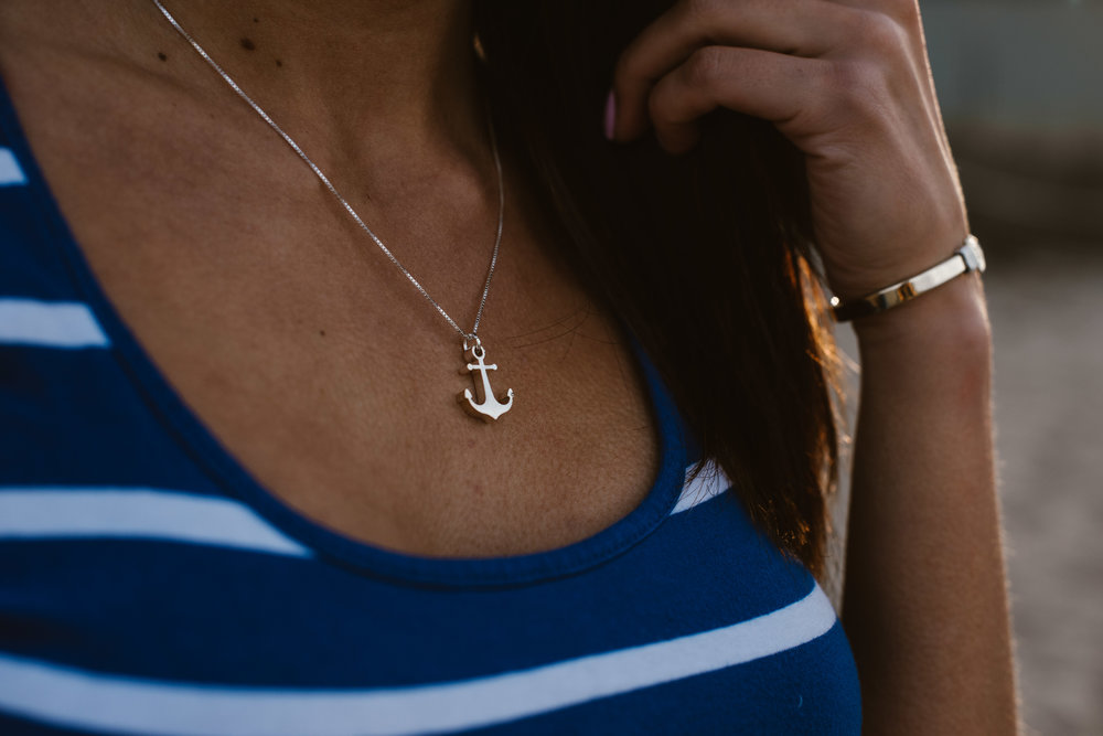 Anchor Necklace from Watts in Maine
