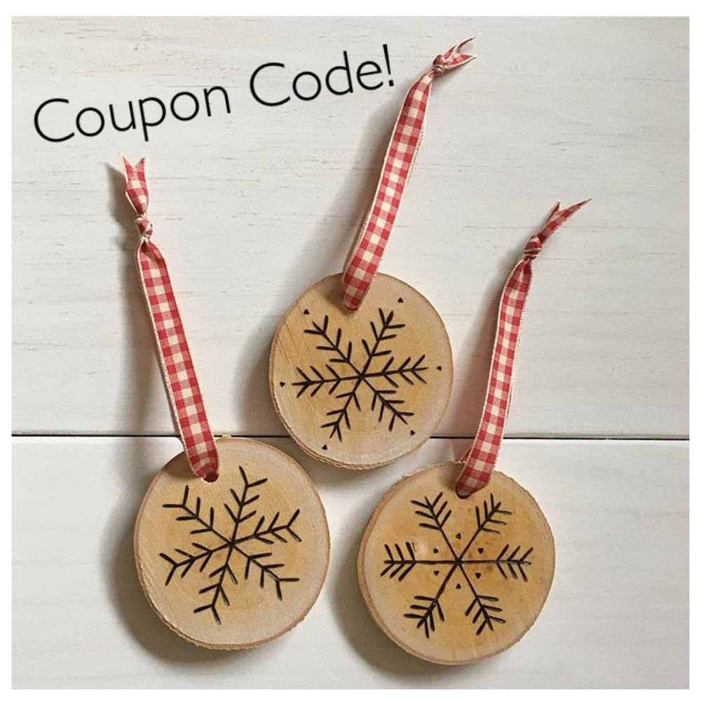 Use PLAID15 for 15% off our entire Etsy Shop.  Coupon Code Expires 11/27/17 at Midnight EST.