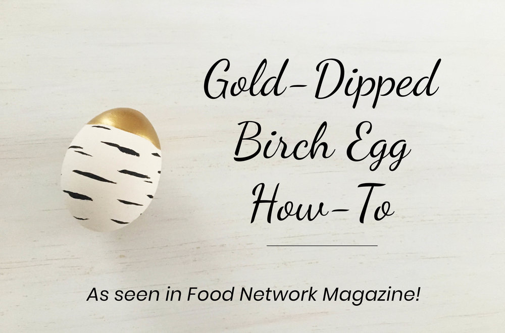 Gold-Dipped Birch Egg How-To | As seen in Food Network Magazine!  New Hampshire-Inspired Easter Egg